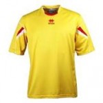Errea Short Sleeve Yellow/Red 'Orion' Shirt Set